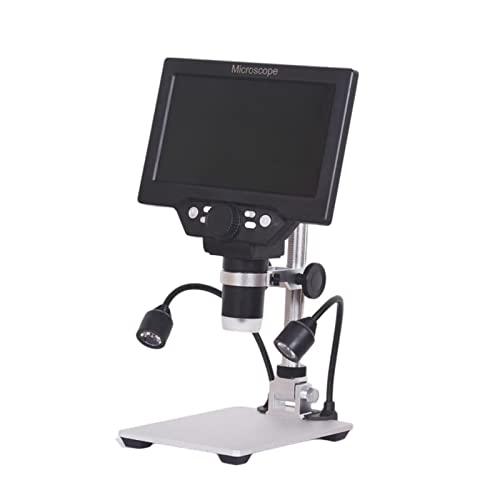 sharprepublic Microscopio Digital 8 Luces LED Amplificación Continua 1200x Sin batería G1200 para PC View Adaptador de la UE