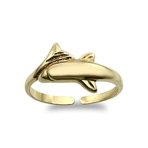Jewelco London Damen Gold Gelb 9k Zehe Ring