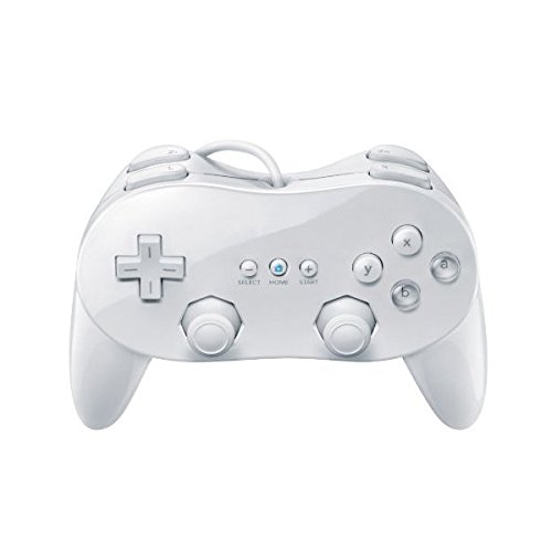 OSTENT Wired Classic Controller Pro Compatible para Nintendo Wii Remote Console Video Game Color Blanco