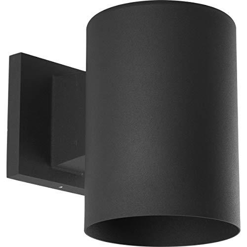 Progress Lighting P5674-31 Cylinder Outdoor, 5-Inch Width x 7-1/4-Inch Height, Black