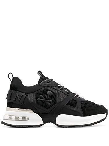 Philipp Plein Luxury Fashion Herren MSC2557PTE003N02 Schwarz Leder Sneakers   Herbst Winter 20
