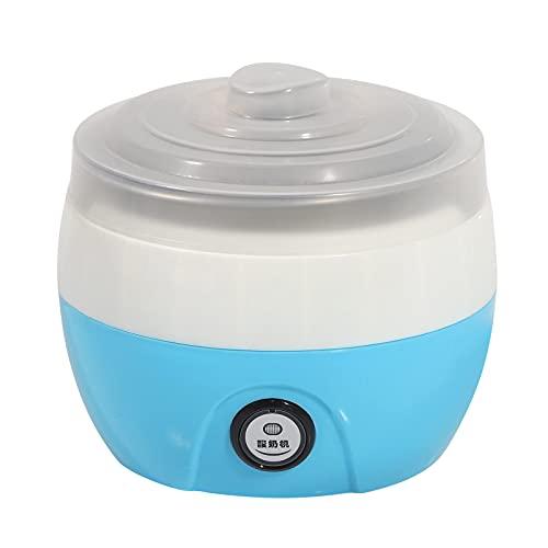 Yogurtiera Automatica, Macchina per yogurt Automatica Domestica 1L, Yogurtiera Elettronica in Acciaio Inox con Spina Blu 220V