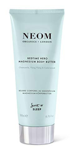 NEOM – Bedtime Hero Magnesium Body Butter, 6.76 fl oz - Nourish and Soften, Fruity Fragrance