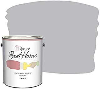 The Spruce Best Home by KILZ 15126401 Interior Eggshell Paint & Primer in One, 1 Gallon, SPR-30 Gravity Gray