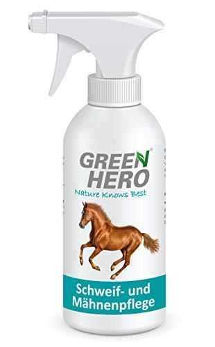 Green Hero Schweif- und Mähnenpflege, 750 ml, Für Schweif und Mähne, Bei stumpfem Fell und verklebten oder verfilzten Schweifhaaren