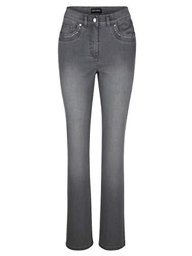Laura Kent Damen Comfort Fit Lange Jeans in Grau aus Baumwolle geeignet für Autofahrer