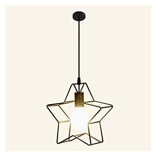 Z iluminación Habitaciones Restaurante Barra Habitación Recepción sencilla de cinco puntas de la estrella geométrica hierro creativo decoración de una sola cabeza de la lámpara de la lámpara nórdica d