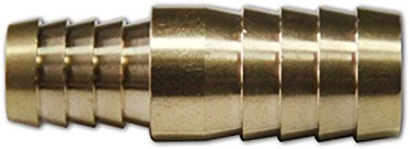LTWFITTING Brass Barb Hose Reducing Splicer Mender 1/2-Inch ID Hose x5/8-Inch ID Hose Fitting Air Water Fuel Boat(Pack of 5)