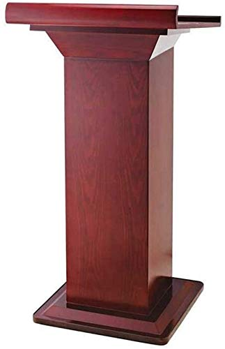 WNN-URG Machinery Parts Lectern Lecture Table Reception Desk School Training Podium Solid Wood Host Welcome Table for Office Hotel WNN-URG (Color : Red, Size : One Size)