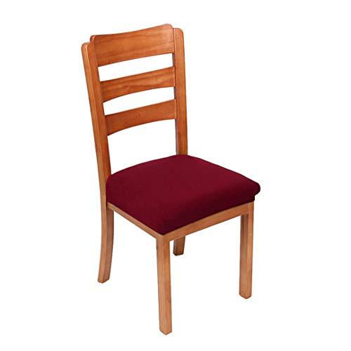 Funda elástica de spandex para silla de color sólido protector de asiento funda elástica duradera anti-suciedad cubierta de asiento de silla Borgoña M