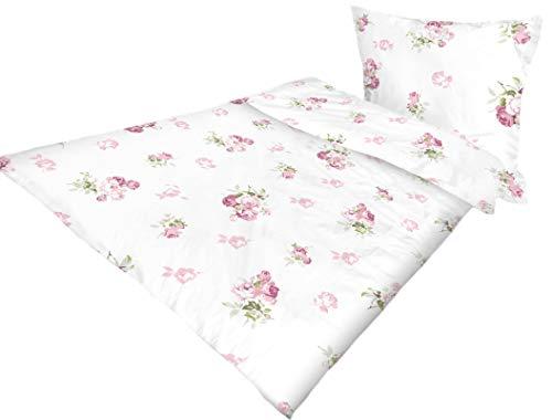 PremiumShop321 Bettwäsche Rosemarie mit floralem Muster 100% Baumwolle 155x220 cm