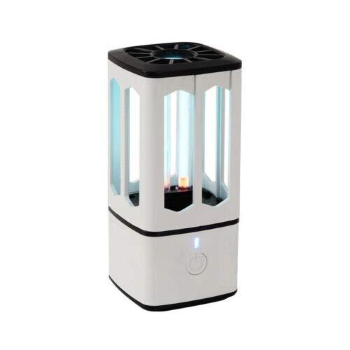 UV Keimtötende Lampe, Tragbare Sterilisationslampe mit Ultraviolett + Ozon zur Sterilisation, Desinfektion und Luftreinigung, wiederaufladbare USB-Lampe für Küchen, Schränke, Autos, Reisen