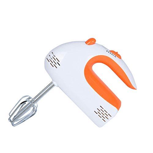Elektrische garde Krachtige elektrische keukenmixer Huishoudelijke elektrische mixer met kom Elektrische handmixers voor keukeninstellingen met deeghaak-oranje