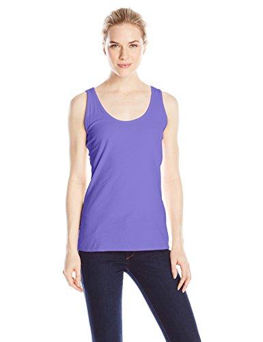 Hanes Women's Scoop Neck Tank Top, Petal Purple, Medium
