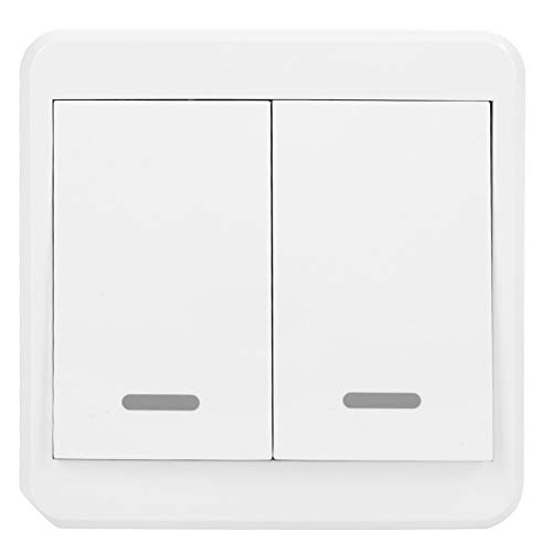 Fdit Interruptor de luz WiFi Interruptor Inteligente Interruptor de Pared táctil Compatible Alexa Asistente de Google Presionar el botón del Interruptor del Panel Iluminación de automatización(2#)