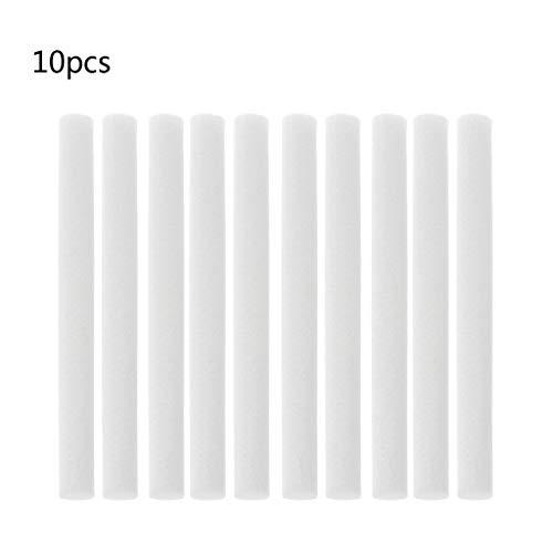 SHUXIN - Set di 10 filtri umidificatori in cotone, 10 x 125 mm, per diffusore di aromi