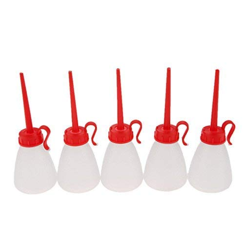 5 PCs Plastic Pointy Nozzle Sewing Machine Oil Squeeze Bottle, Oiler Bottle, Applicator for DIY Quilling Tool,60ML