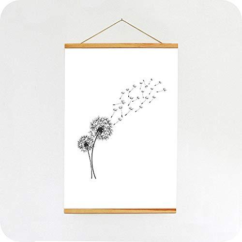 SPRINTIS Magnetische Posterleiste aus Holz A0, Posterschiene mit eingefassten Magneten, Posterklemmschiene zum Aufhängen, Holzposterleiste (85 cm, Kiefernholz)