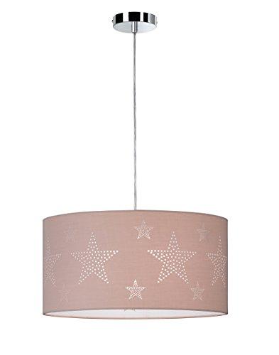 Deckenleuchte Pendelleuchte Chrom Schirm Dekor Stern 1-flammig 68511 Spot Design Lampe Leuchte Beleuchtung Hängelampe