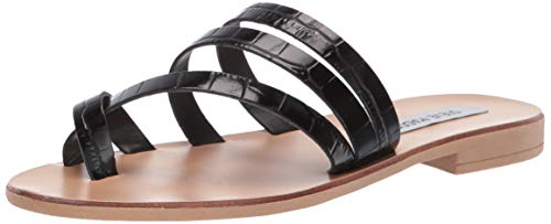 Price comparison product image Steve Madden Women's Ringtone Sandal Black Crocodile 8 M US