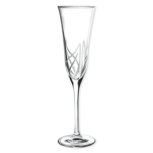 Flûte à champagne effet feuillage gravé 17cl - lot de 6 HELICONIA