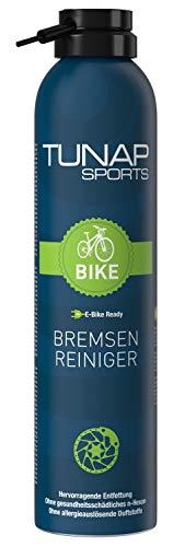 TUNAP SPORTS Bremsenreiniger Spray | Fahrrad Bremsen reinigen | Entfernt Verschmutzungen, zugunsten der Bremsleistung (E-Bike Ready 300ml)