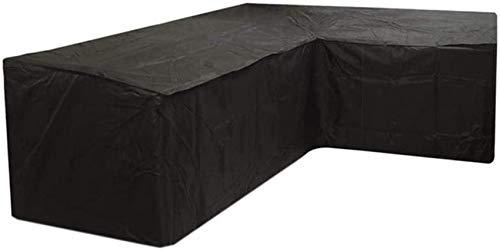 Funda para muebles de jardín en forma de L Funda para sofá al aire libre en esquina 270x200x90cm, Funda para muebles de patio impermeable, Fundas para mesa de patio Funda resistente al viento para s