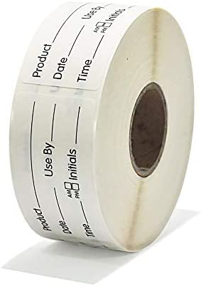 L LIKED Use by 1 x 2 Inch Dissolvable Labels for Food Rotation Prep roll of 500 product image