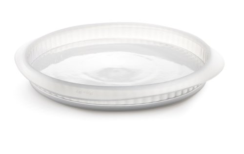 Lekue 11-Inch Quiche Pan with Ceramic Removable Plate, Clear