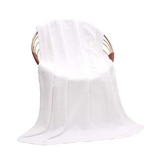 Juego De Toallas De Baño Hotel White Big Towel Plus Daquan Cotton Toalla De Baño De Gran Tamaño Salón De Belleza Club Toalla De Cama Funda De Algodón-Blanco 100 * 200Cm [Peso 800G]