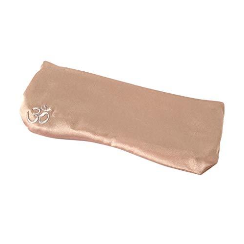 Nowear Seda-como almohada de ojos lavanda Cassia semilla relajante ojo parche almohada lavanda bolsa extraíble Yoga Accesorios