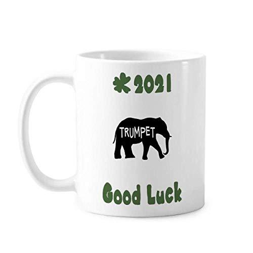 Elephant Growl Roar Trompete Good Luck 2021 Tasse Keramik Kaffee Porzellan Tasse Geschirr
