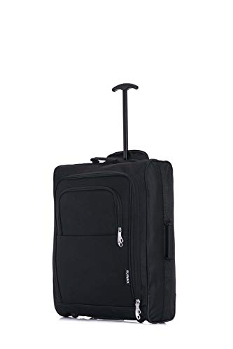 FLYMAX 55X40X20 Cabin Luggage Hand Carry on Flight Bag Lightweight Suitcase 1.58Kg Approved for RYANAIR EASYJET WIZZ AIR