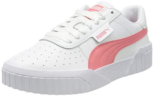 PUMA Damen Cali Wn S Sneaker, White Sun Kissed Coral, 42 EU
