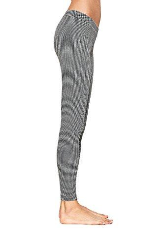 ESPRIT Damen Leggings Pattern, 95% Baumwolle, 1 Stück, Schwarz (Black 3000), Größe: 42-44