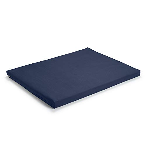 basaho Zabuton Tapis de Méditation   Coton Bio (certifié GOTS)   Remplissage de Fibre de Laine Recyclée (Bleu Nuit)