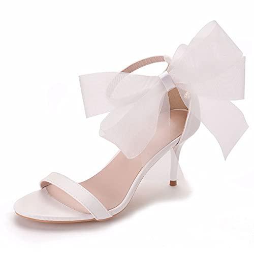 Zapatos De Novia Para Mujer,Sandalias De Boca De Pez, Hebilla De Una...