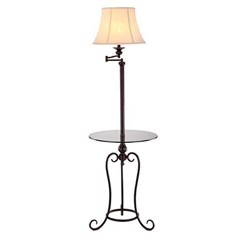 UWY Lámpara de pie Lámpara de pie Lámpara de pie Vintage de Hierro Lámpara de pie Interior Antigua Adecuado para Sala de Estar Dormitorio - Interruptor de pie