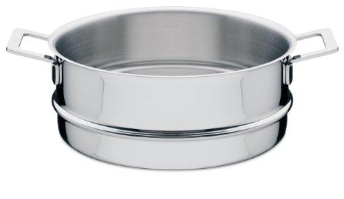 Alessi AJM307 Pots&Pans Cestello per Cotture al Vapore in Acciaio Inossidabile 18/10 Lucido