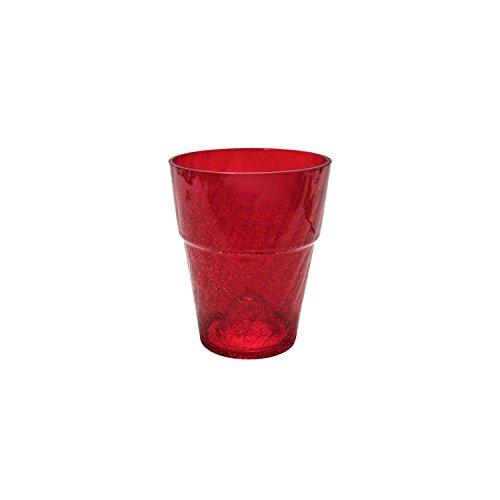 Polnix Cache Pot Verre Orchid Transparent Rouge diam. 13 cm ht. 16.5 cm