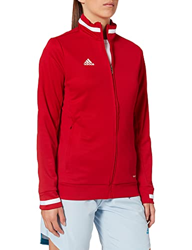 adidas T19 TRK JKT W Chaqueta de Deporte, Mujer, Power Red/White, S