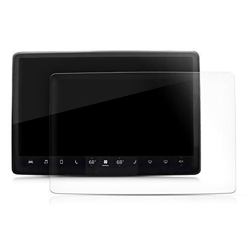 kwmobile 2X Navi Folie kompatibel mit Tesla Model 3 - Display Schutzfolie für Festeinbau-Navigationsgerät - Displayfolie transparent