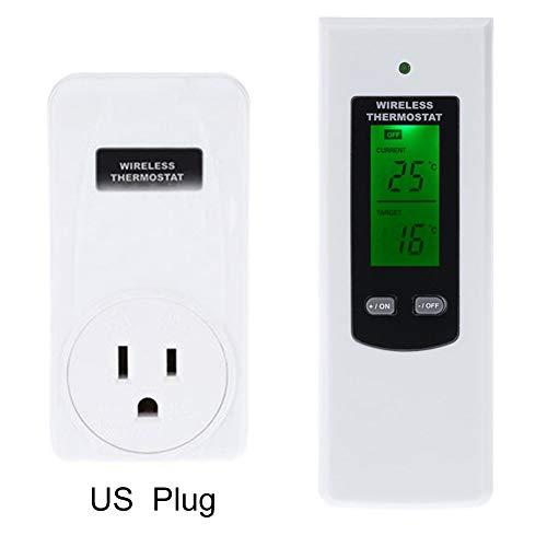 Danme Funk Thermostat RF Stecker Digitale Infrarot Heizung Temperatursensor Controller