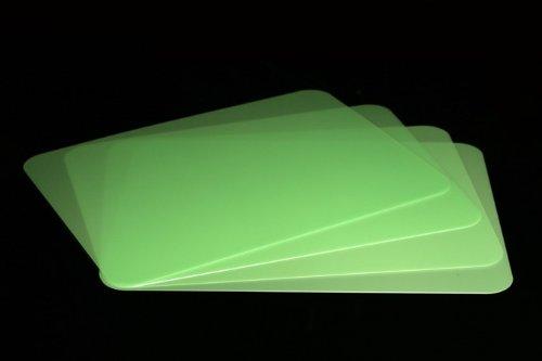 Vogt Foliendruck GmbH Tischunterlagen-Set grün transparent, 4-teilig, abwaschbar, Tischset, Platzset