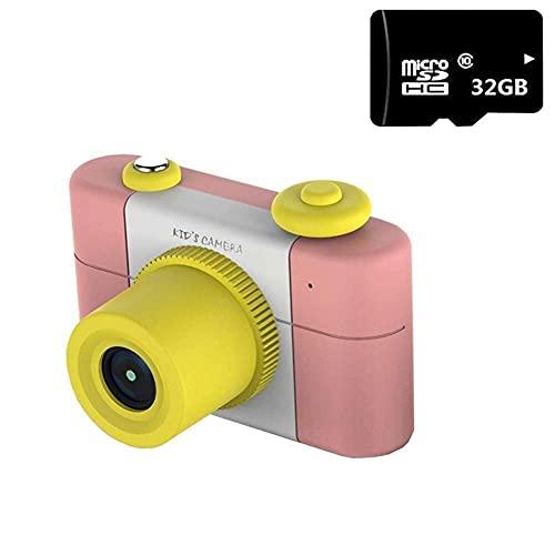 Inicio Equipos Soporte de flores Mini cámara para niños Cámara digital con rompecabezas a prueba de agua Cámara digital con pantalla de 1.5 pulgadas Creativo DIY Temporizador automático Juguete par