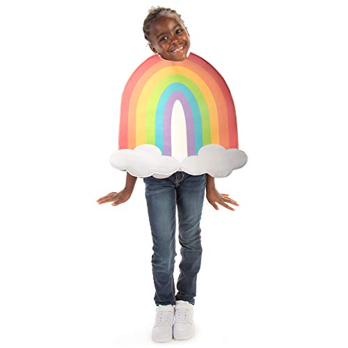 Colorful Rainbow Halloween Costume - Fun Cute Happy Nature Kids Outfit (YS)