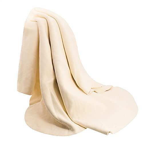 Chamois-Tuch für Auto – Trockentuch Shammy Towel natürliches Echtleder Waschlappen Reinigungstuch Auto Tücher – Fensterleder Tuch Kunst Tuch Zubehör (99 x 65,6 cm)
