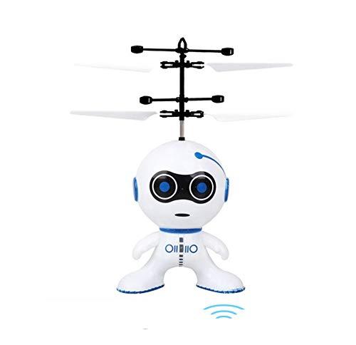 NANE Helicóptero de inducción Robot, helicóptero automático, dron de inducción infrarroja con Luces LED de Colores y Control Remoto