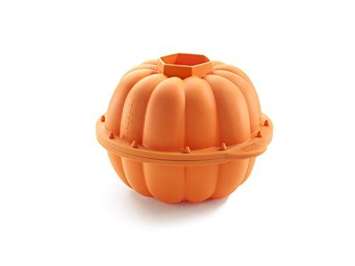 Lékué Halloween 3D Molde Calabaza, Silicona, Naranja