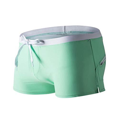 BOLAWOO-77 Badehose Männer Nner Herren Boxershorts Workout Jammers Tarnmuster Wassersport Mode Marken Mit Kordel Taschen Schwimmen Trunks Kurze Hose Schwimmanzug (Color : Grün, Size : S)
